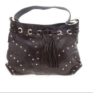 Bulga Brown Leather boho bag